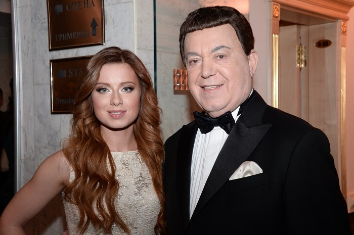 Юлия Савичева с Иосифом Кобзоном