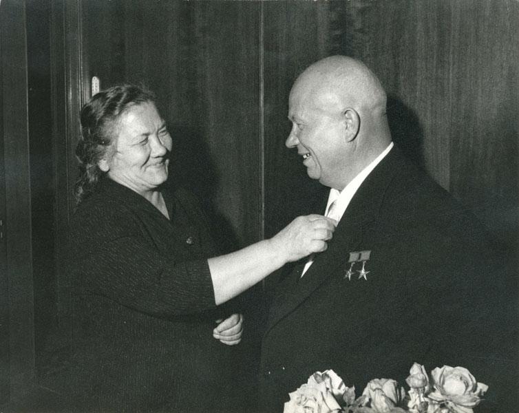 Никита Хрущев и Нина Кухарчук