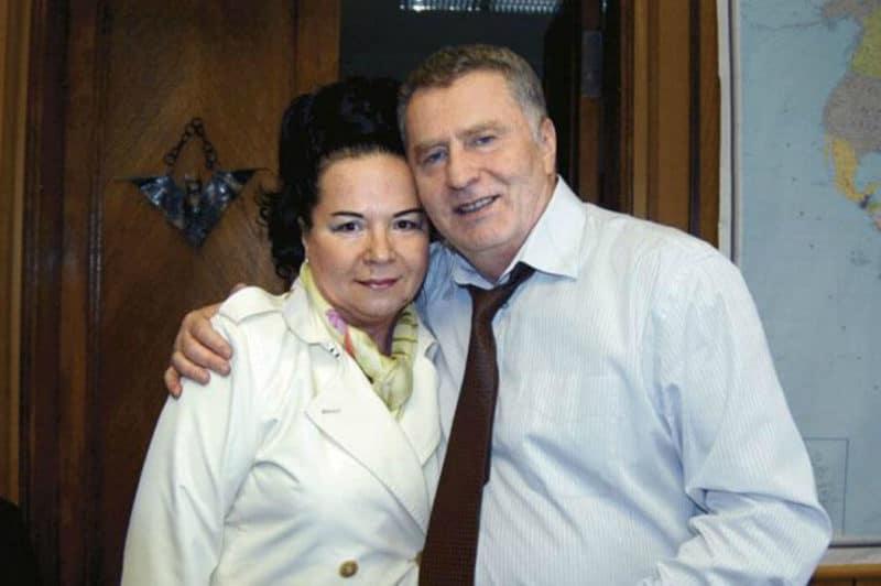 Владимир Жириновский с женой  Галиной Лебедевой