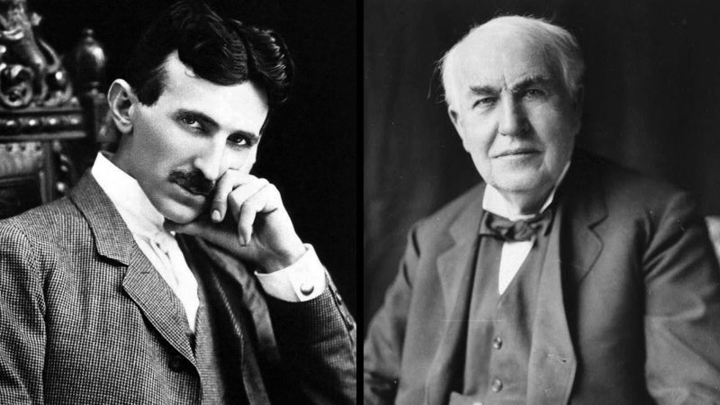 Никола Тесла и Томас Эдисон
