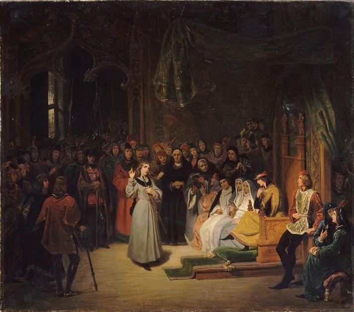 Жанна д'Арк перед дофином Карлом