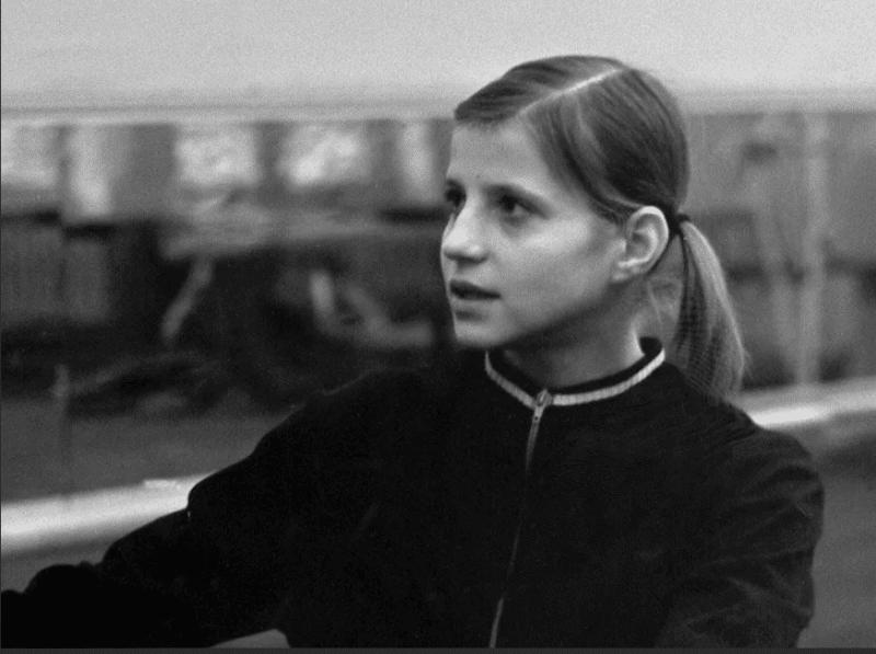 Ольга Корбут в юности