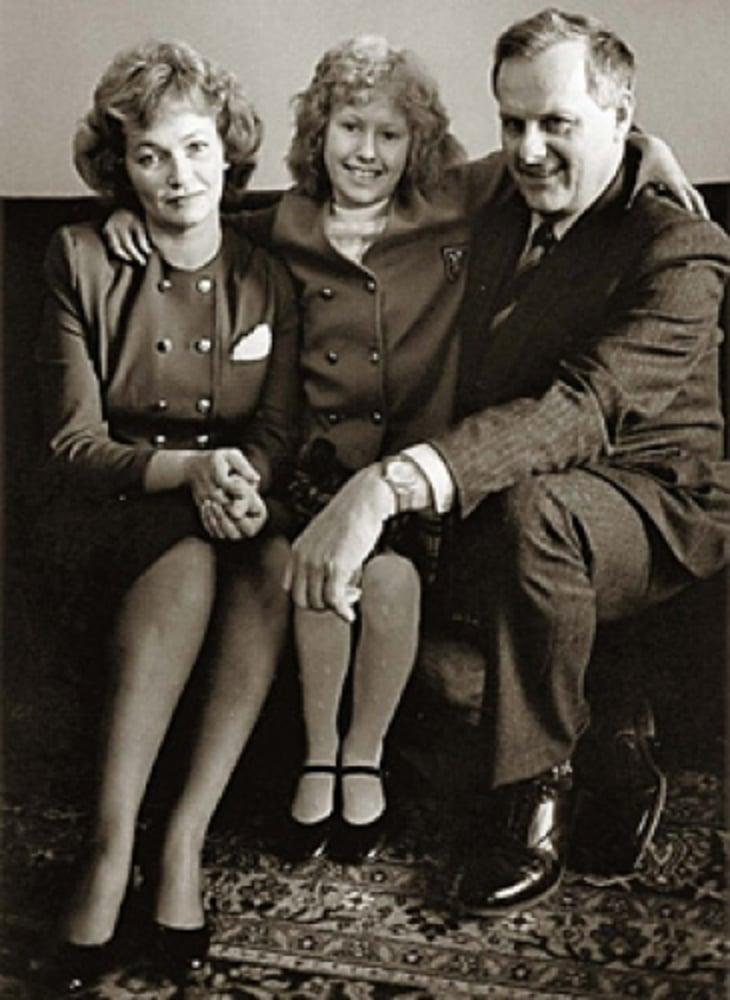 Ксения Собчак с отцом и матерью