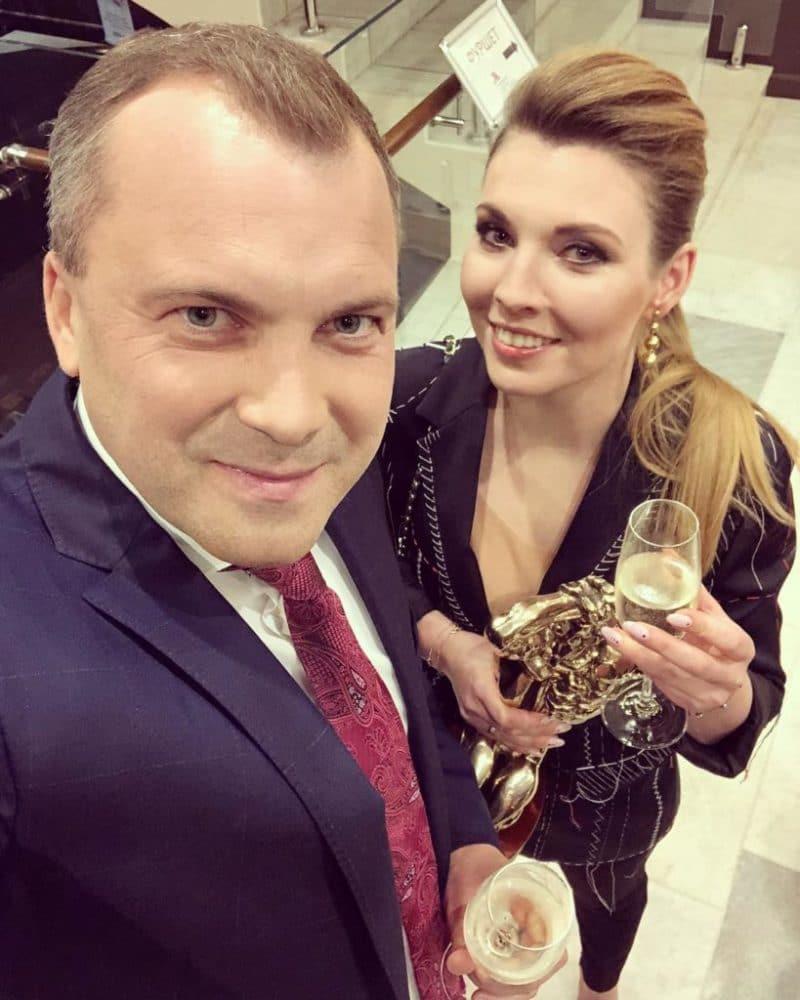 Евгений Попов с Ольгой Скабеевой