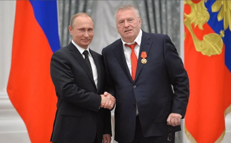 Владимир Жириновский с Путиным
