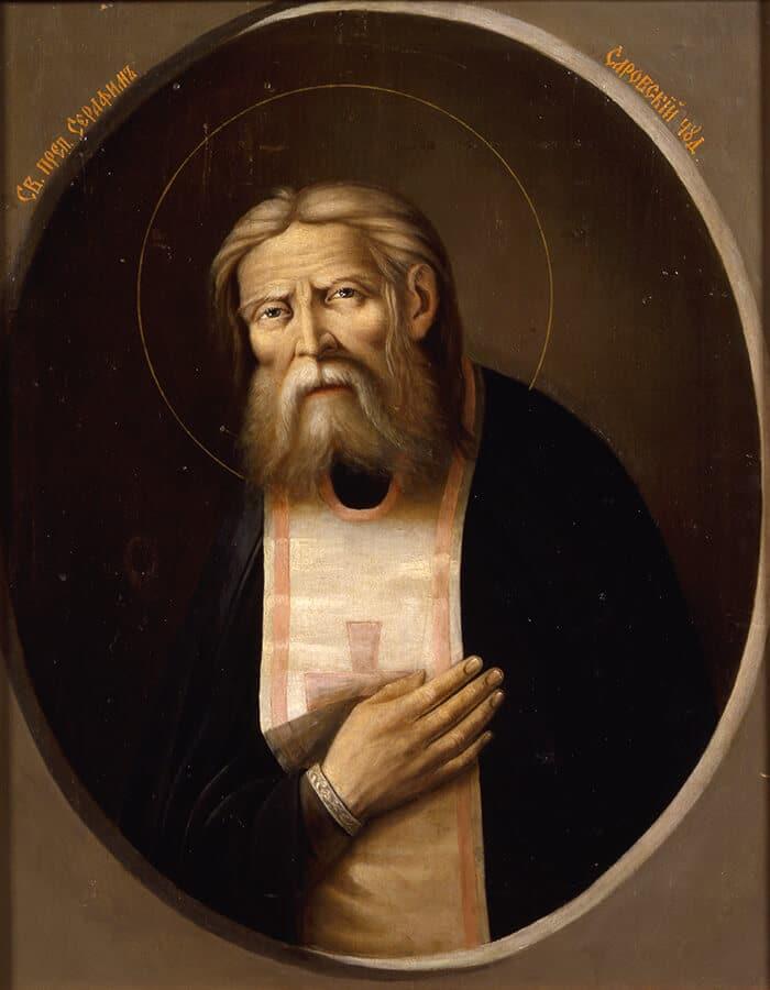 Прижизненная икона Серафима Саровского написанная Серебряковым