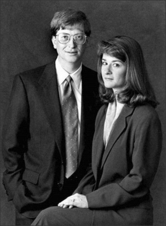 Молодые Билл и Мелинда Гейтс