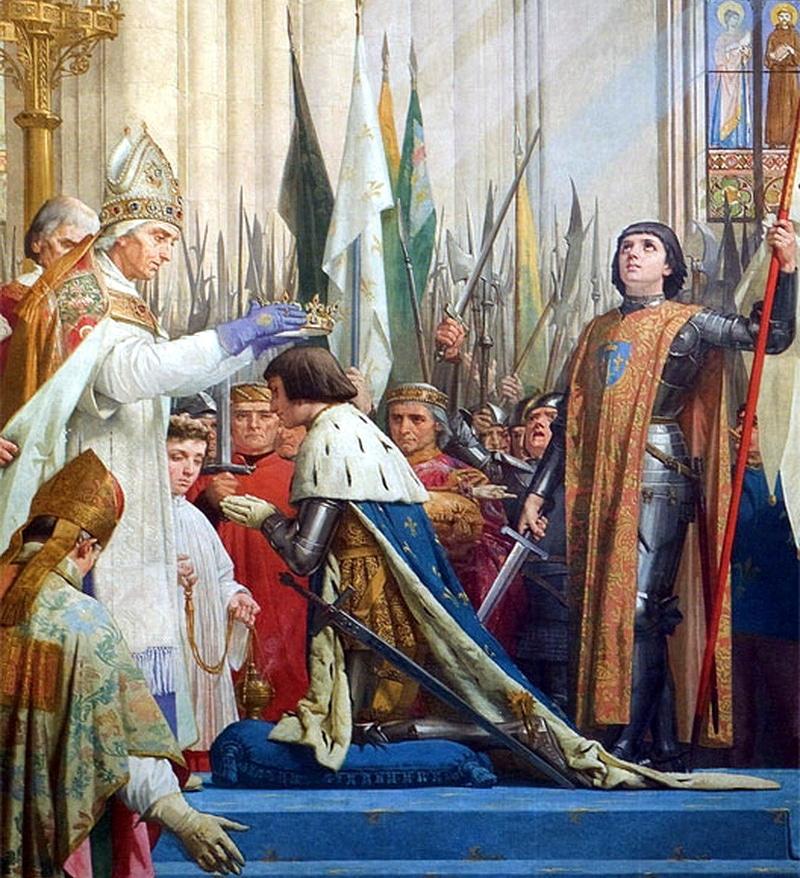Жанна д'АРК на коронации Карла VII