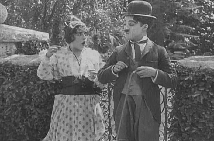 Чарли Чаплин «Застигнутый дождем»