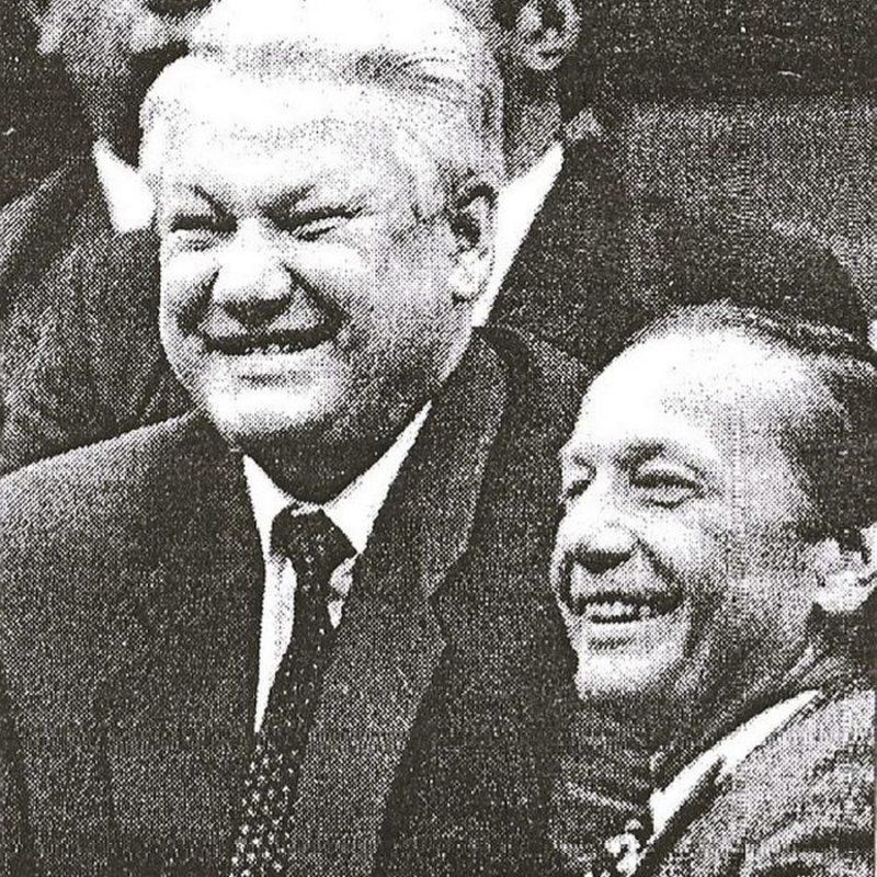 Михаил Задорнов с Ельциным
