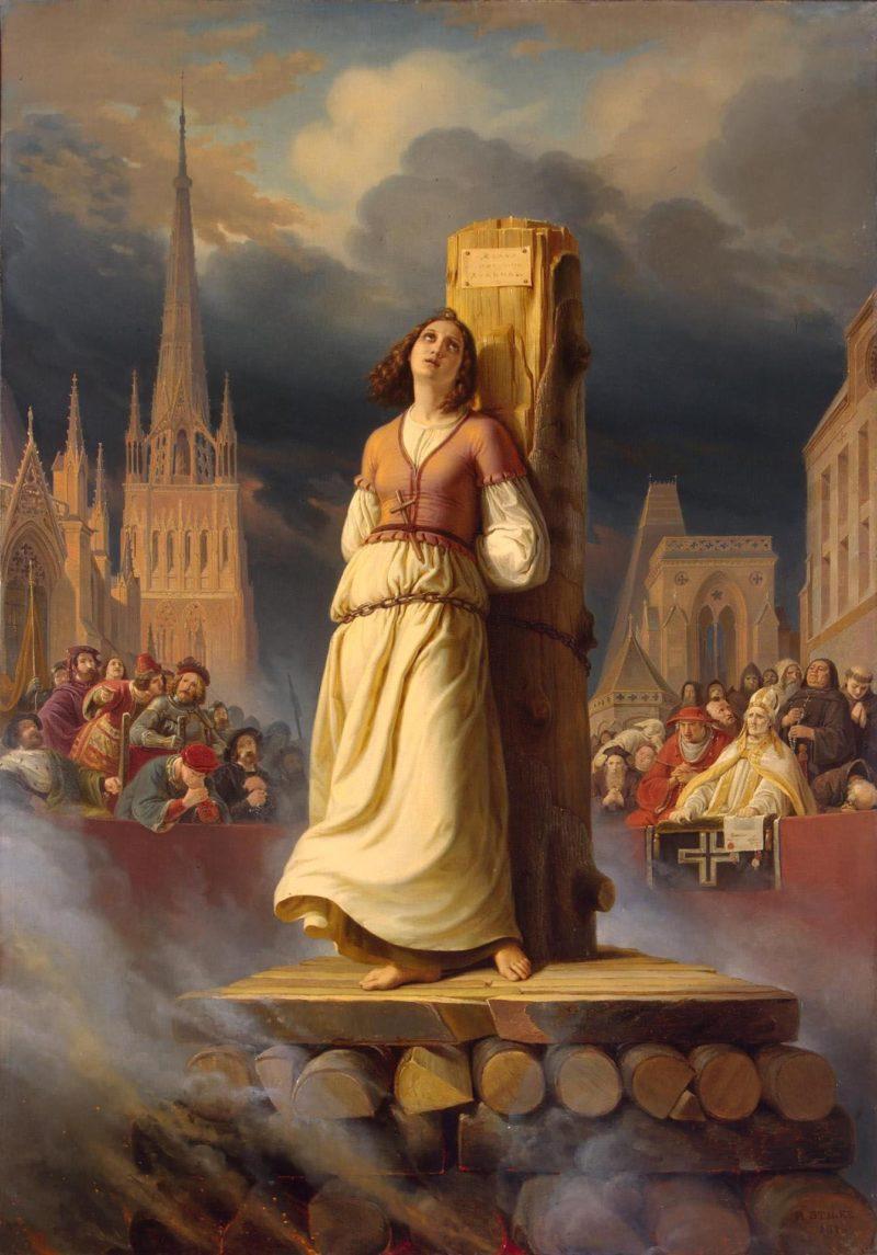Жанна Д' Арк на костре