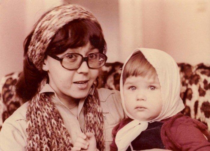 Ядвига Поплавская с дочерью Анастасией