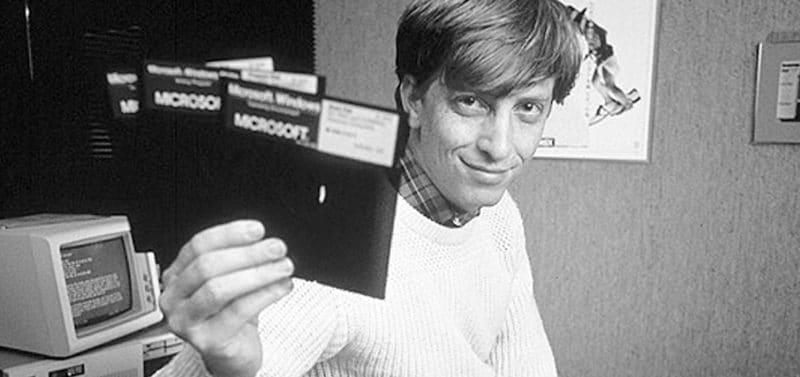 Билл Гейтс после основания Microsoft в 1976 году