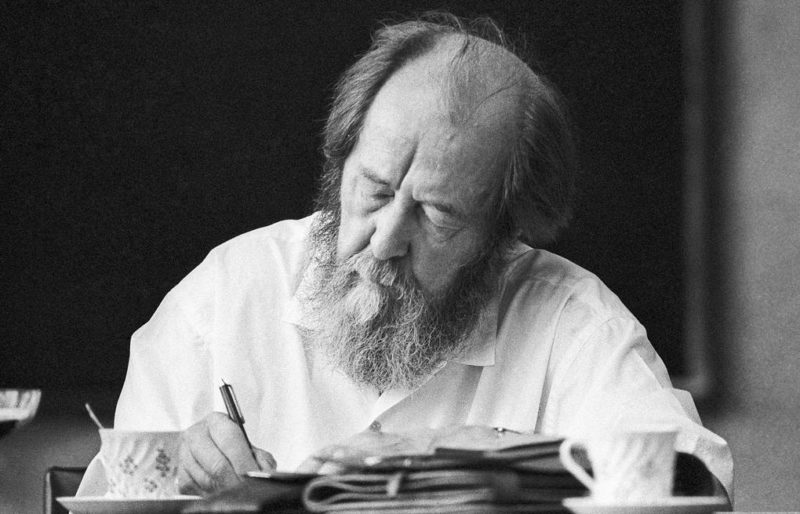 Александр Солженицын в творческом процессе