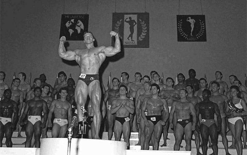 Арнольд Шварценеггер в конкурсе «Мистер Вселенная»