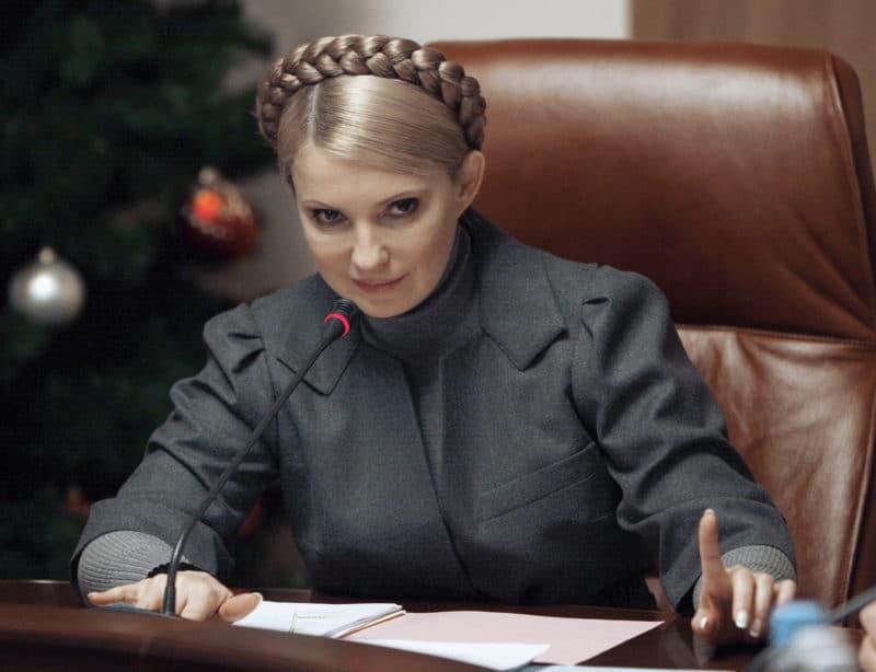 Юлия Тимошенко на должности примьер-министр Украины