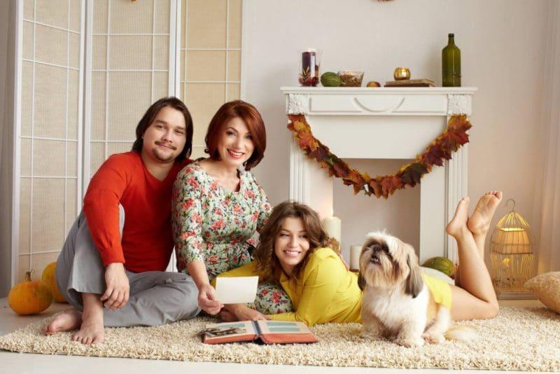 Роза Сябитова с дочерью и сыном