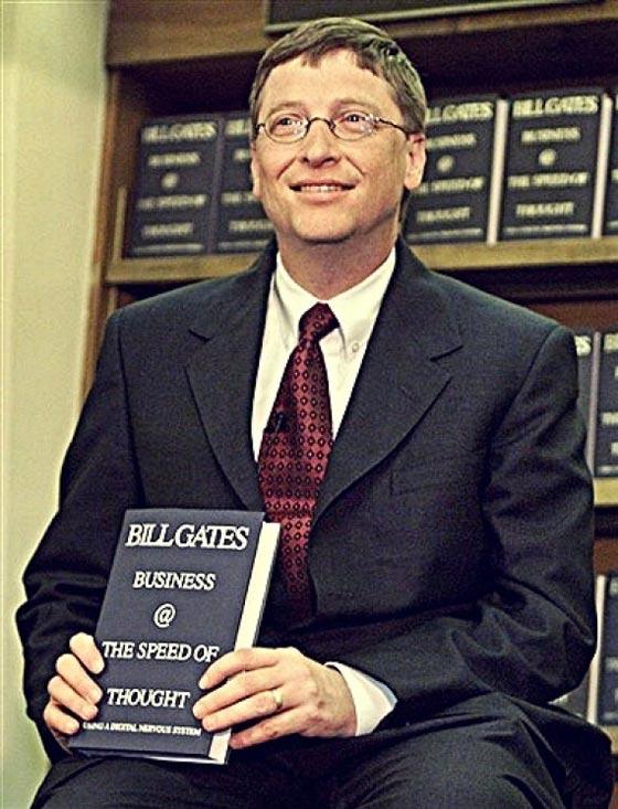 Билл Гейтс представляет свою книгу «Бизнес со скоростью мысли»