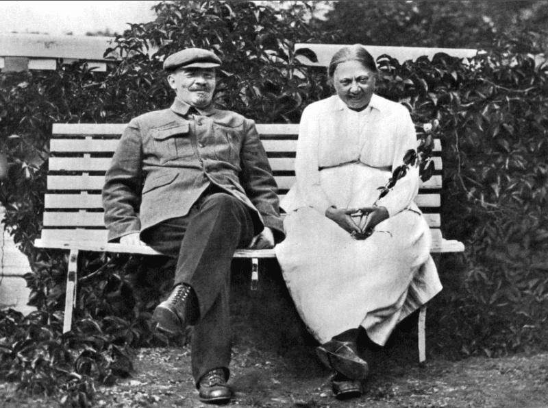 Владимир Ленин с Надеждой Крупской