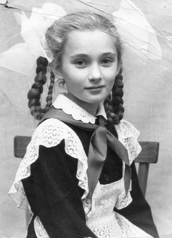 Ольга Зарубина в детстве