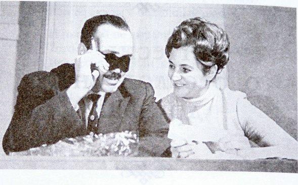 Эдуард Асадов с женой Галиной Разумовской
