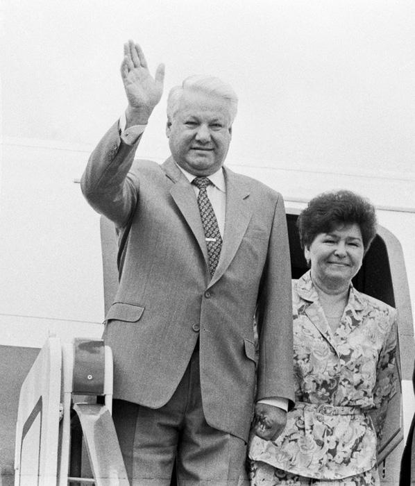 Борис Ельцин с Наиной Гириной