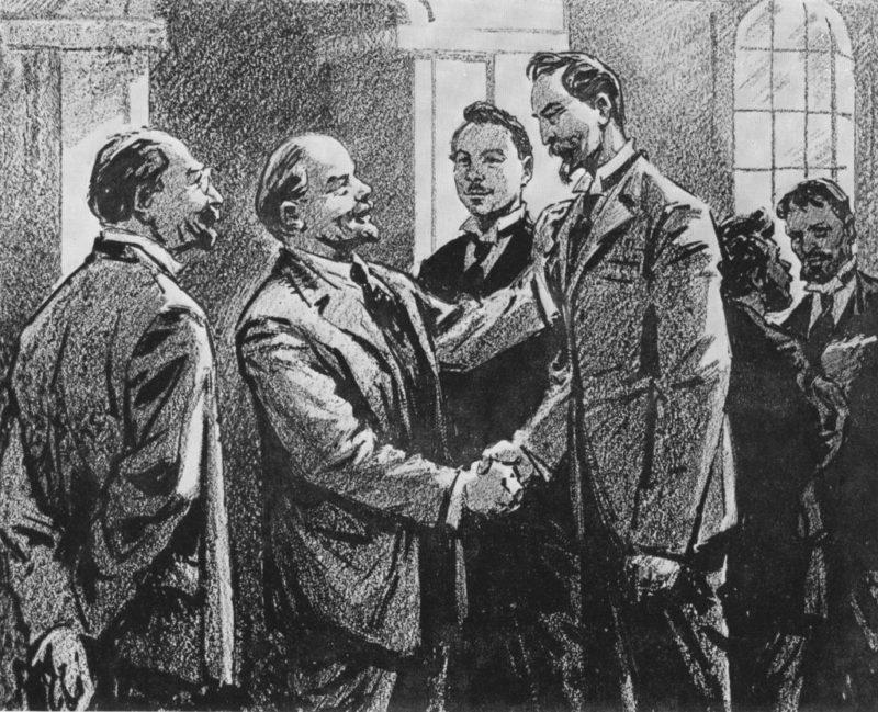 Феликс Дзержинский встречается с Лениным