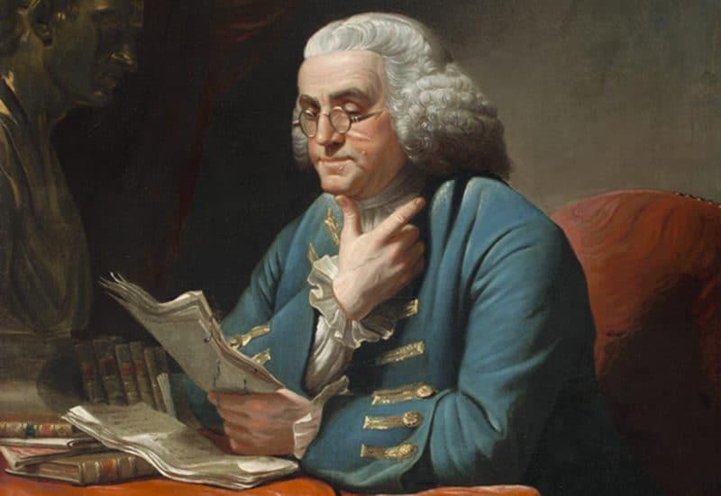 Портрет Бенджамина Франклина