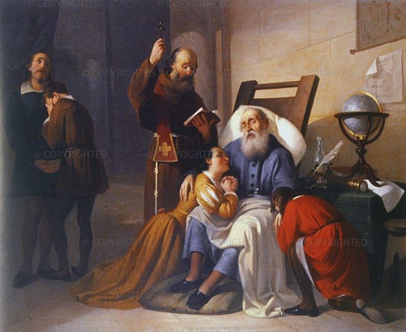 Галилео Галилей с семьей