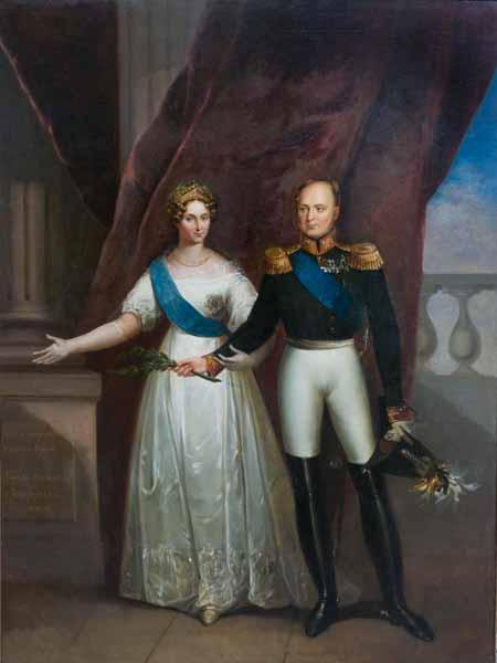 Александр 1 и Луиза Мария Августа