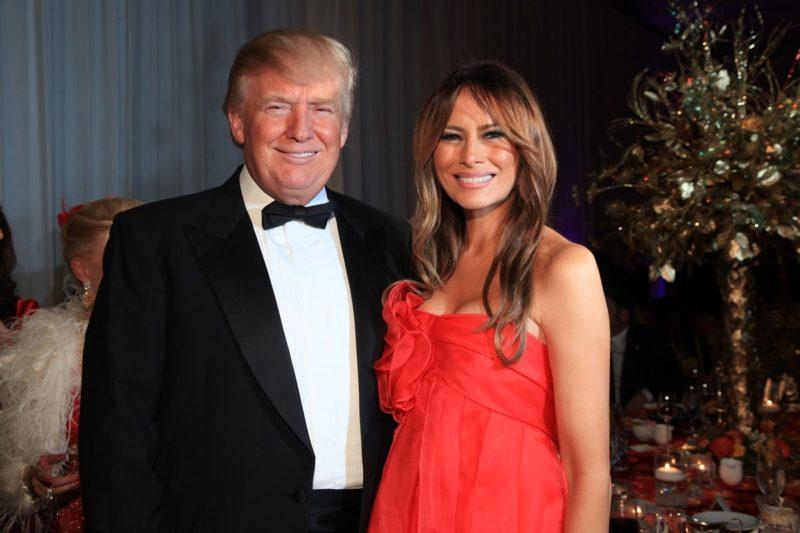 Дональд Трамп с третей женой Мелании Кнаусс