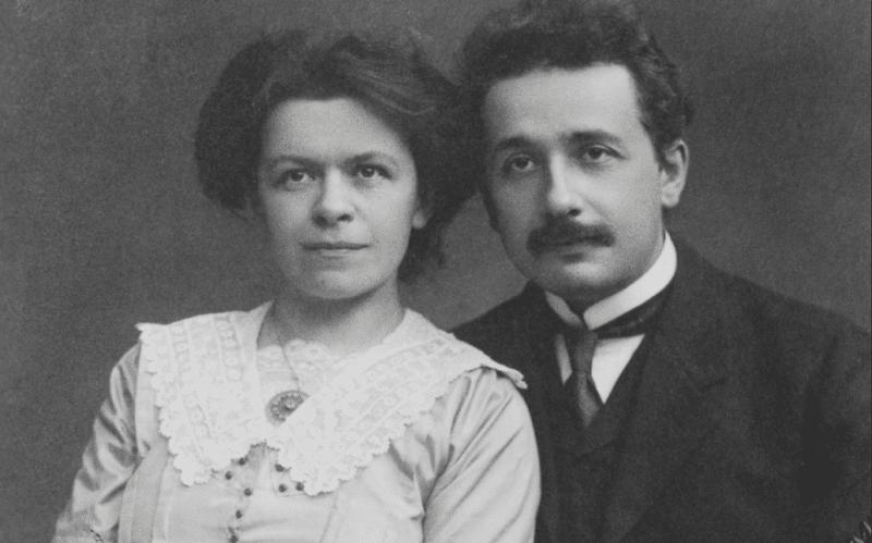 Альберт Эйнштейн с Милевой Марич