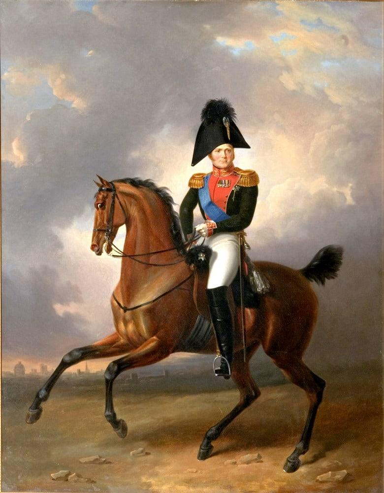 Портрет Александра 1 на войне