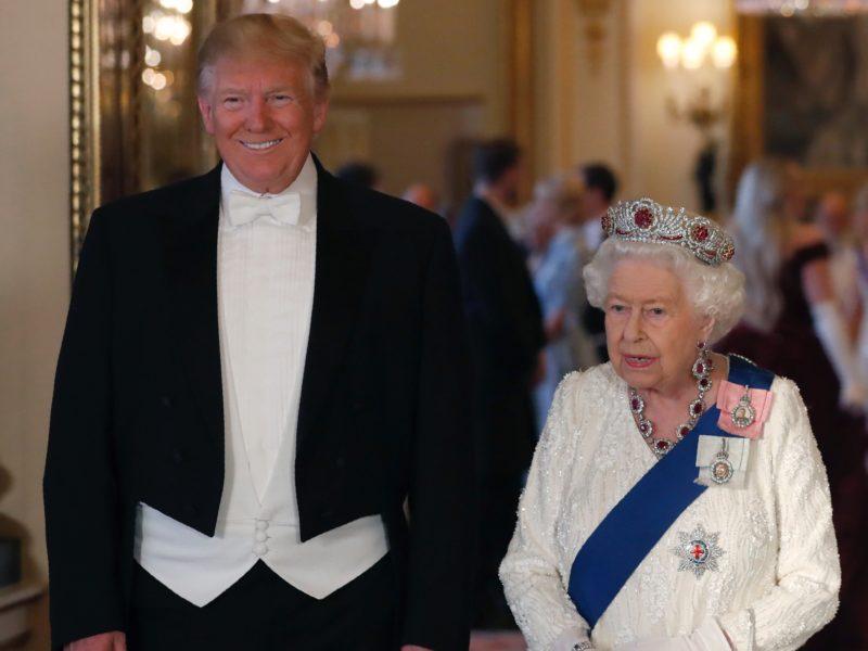 Дональд Трамп с Елизаветой II