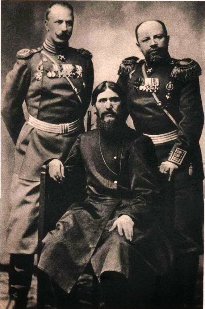 Григорий Распутин с Николаем 2