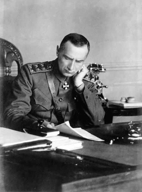 Александр Колчак в штабе