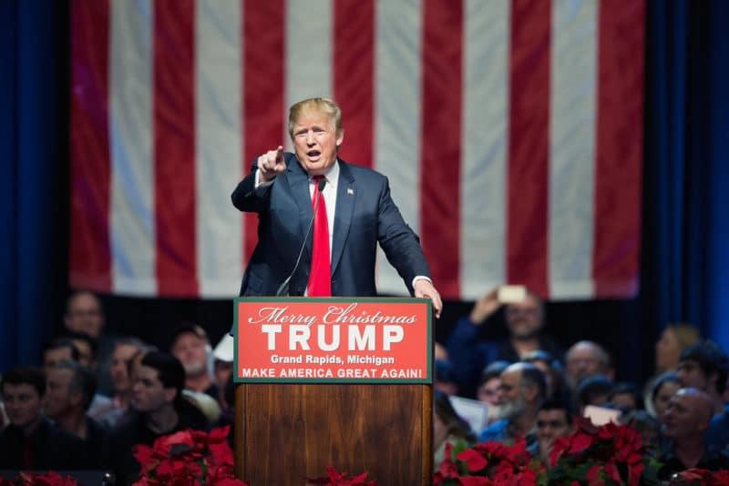 Дональд Трамп на предвыборной кампании