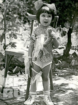 Анна Нетребко в детстве