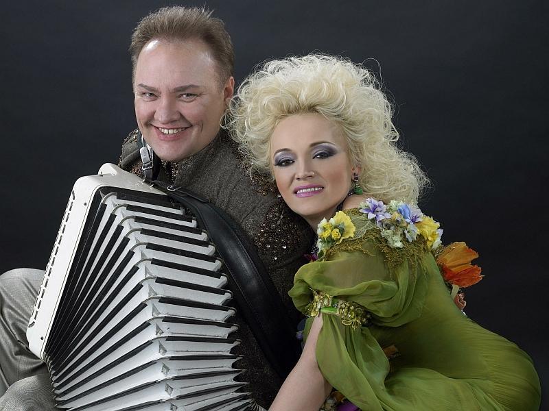 Надежда Кадышева с Александром Костюком