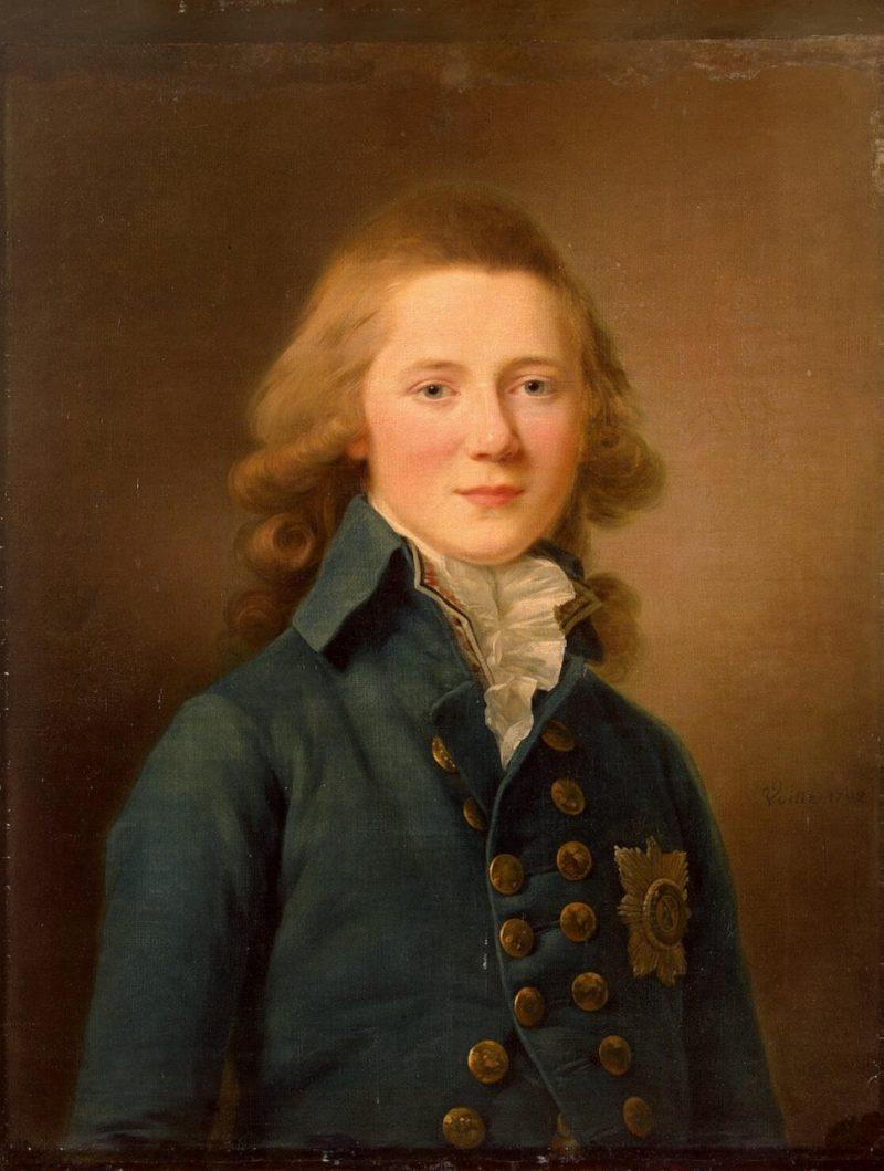 Портрет Александра I в юности
