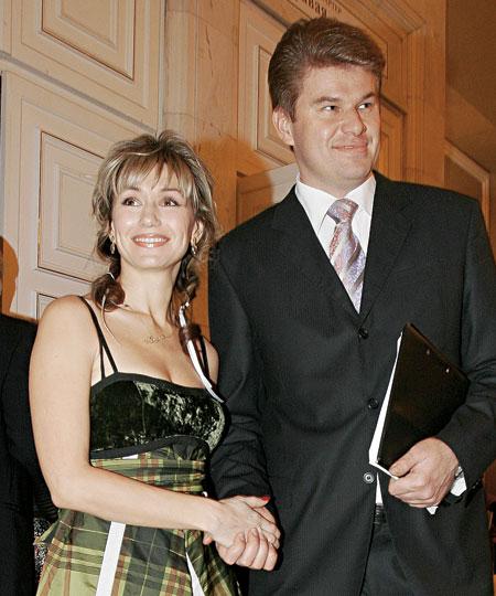 Дмитрий Губерниев с Ольгой Богословской