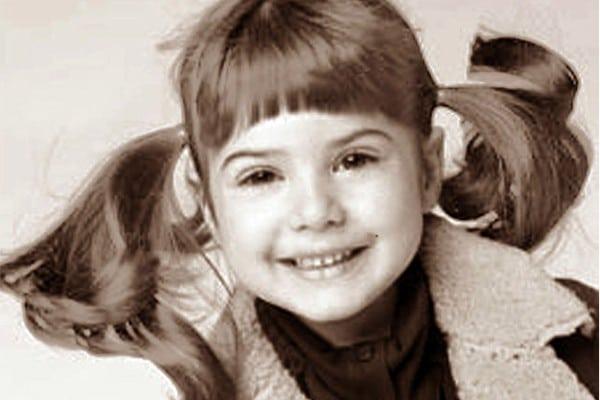 Алена Кравец в детстве