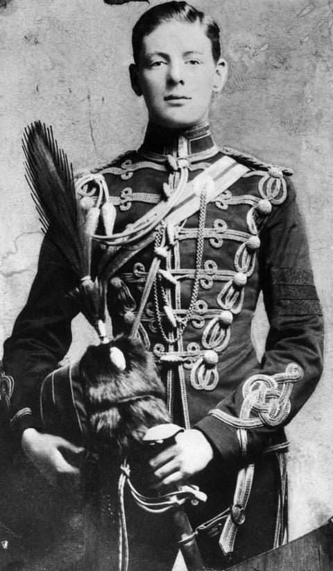 Уинстон Черчилль в армейском классе