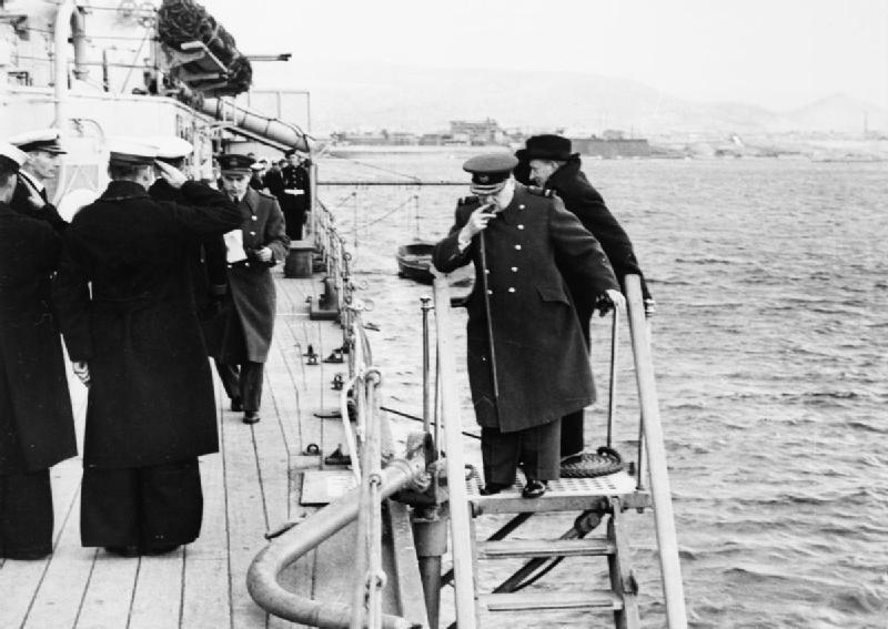 Уинстон Черчилль на должности министра военно-морских сил