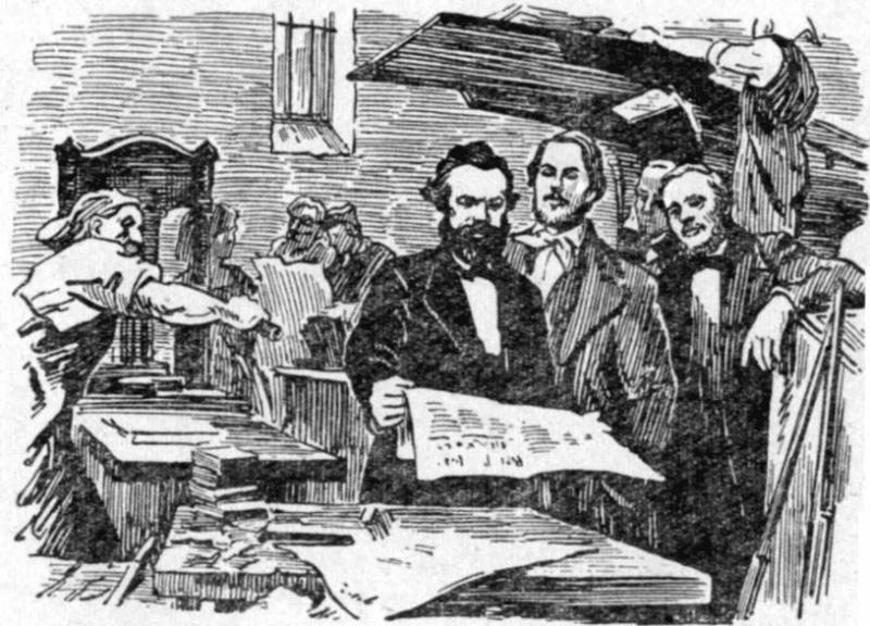 Карл Маркс в редакции Рейнской газете