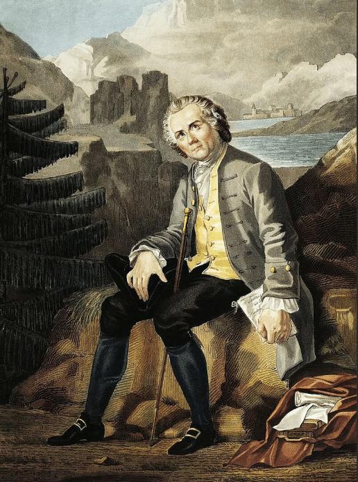 На портрете Жан-Жак Руссо