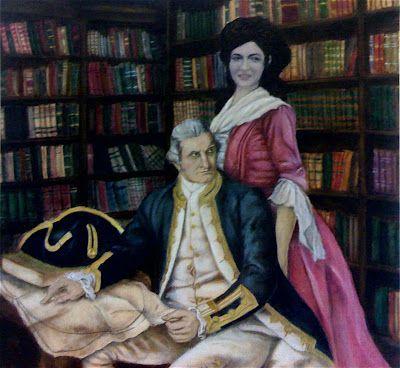 Портрет Джеймса Кука с женой