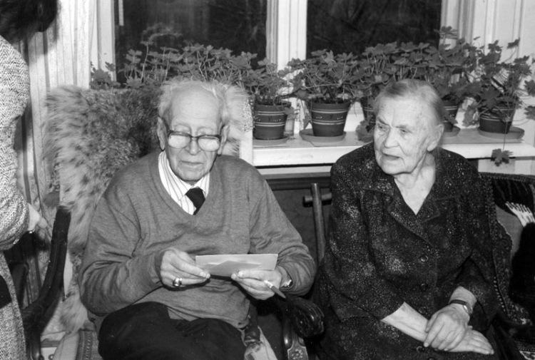 Дмитрий Лихачев с женой Зинаидой