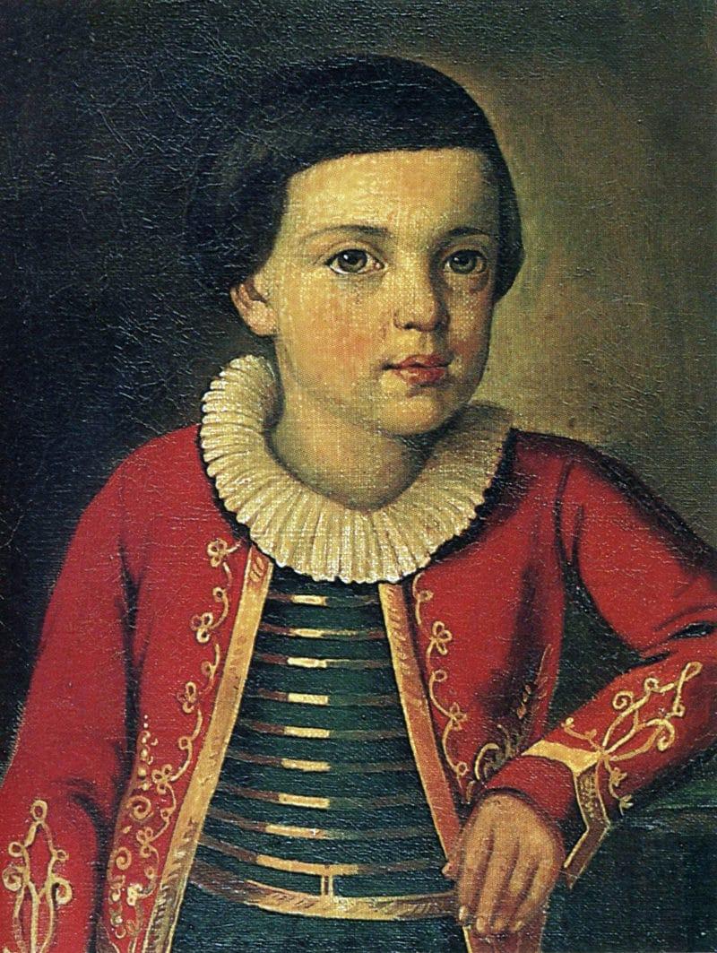 Портрет Лермонтова в детстве