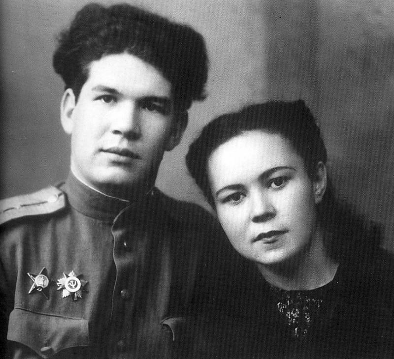 Мустай Карим с женой Раузой